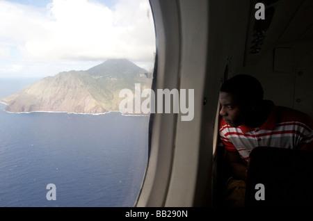aerial antillen antilles bovenwinden bovenwindse caribbean dutch eiland eilanden elevated view horizontal indies indoor inside i