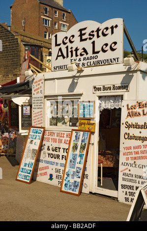 Fortune teller's kiosk on the seafront at Whitby North Yorkshire England UK United Kingdom GB Great Britain - Stock Photo