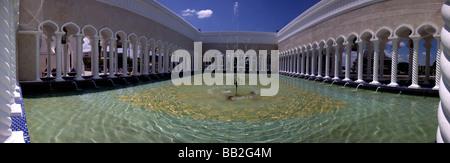 Fountain Pool of the Sultan Omar Ali Saifuddien Mosque,Bandar Seri Begawan,Brunei,Borneo,Malaysia,Asia - Stock Photo