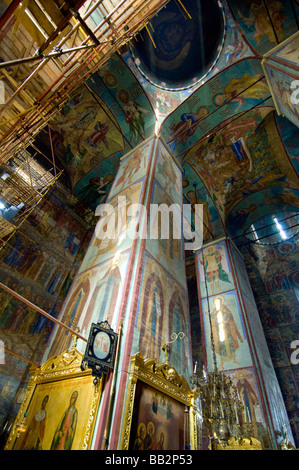 Russia Golden Ring  Sergiyev Posad  formerly Zagorsk. Trinity Monastery of St. Sergius. Cathedral fo the Dormition - Stock Photo