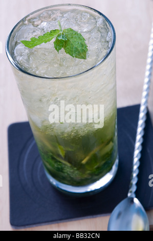 an alcoholic cocktail drink in a bar - Stock Photo