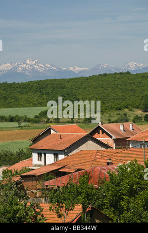 KOSOVO, Balince. View of Muslim village of BALINCE rebuilt after Kosovo War (1998-1999) - Stock Photo