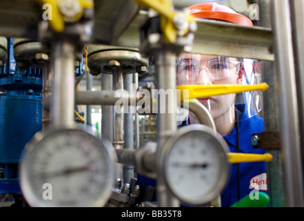 Chemical laboratory worker at Henkel AG Duesseldorf - Stock Photo