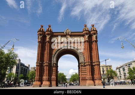 Arc de Triomf in Barcelona, Spain - Stock Photo
