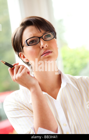 Woman thinking - Stock Photo