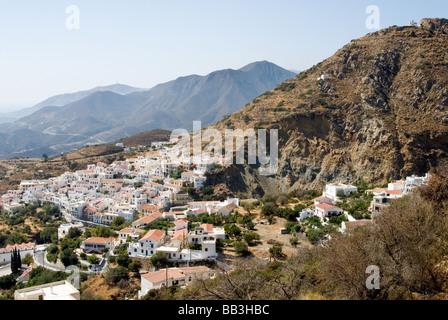 Greek Island Karpathos: Mountain village Aperi - Stock Photo