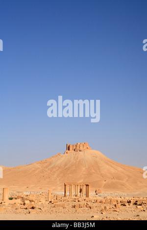 Qalaat Ibn Maan Citadel, Palmyra, Syria - Stock Photo