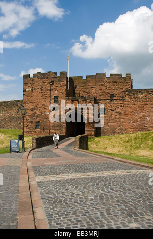 city of Carlisle castle town centre shopping Cumbria, in England. - Stock Photo
