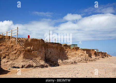 Coastal erosion on Holderness Coast, East Yorkshire, England, uk - Stock Photo