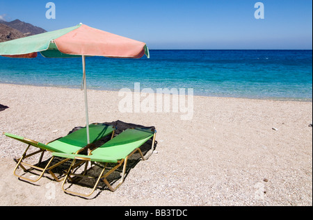 Greek Island Karpathos: Apella beach - Stock Photo