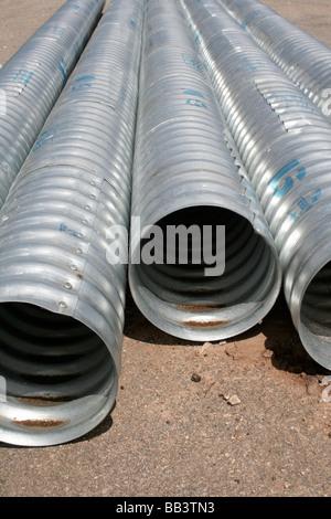 Galvanized Culvert Pipe Stock Photo 24056790 Alamy
