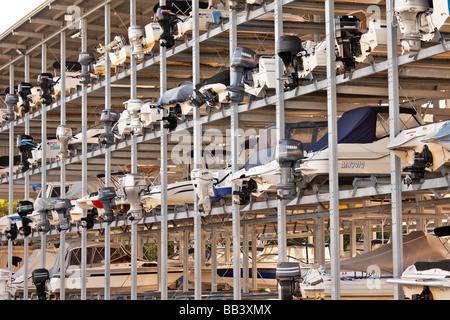 Boat storage facility - Stock Photo