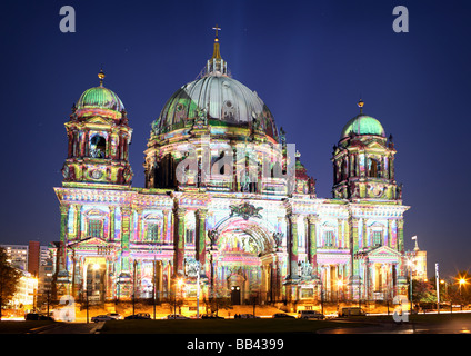 Cathedral during Festival of Lights - Stock Photo