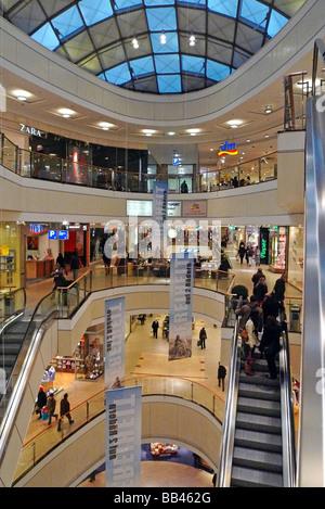 Shopping mall City Arkaden Wuppertal - Stock Photo