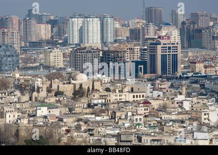 Overview of Baku, Azerbaijan. - Stock Photo