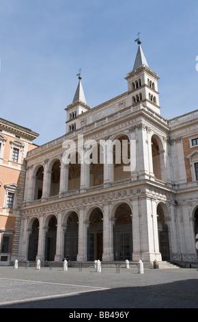 Saint John Lateran, Loggia delle Benedizioni - Stock Photo