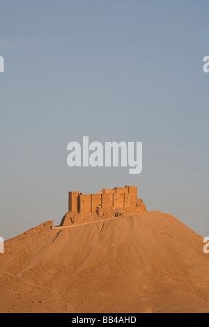 Desert castle near Palmyra, Syria. - Stock Photo
