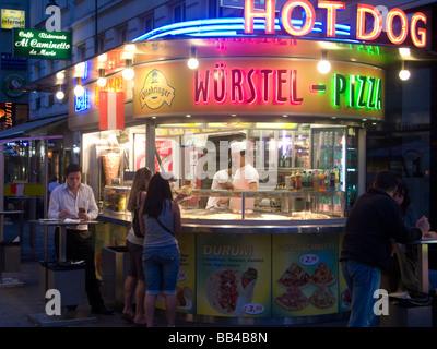 Fast food stand vienna austria wien sterreich stock for Food bar wien