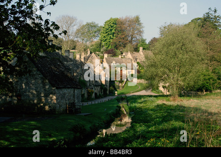 Arlington row Bibury Gloucestershire UK - Stock Photo