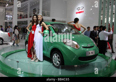 Annual car show in Beijing. - Stock Photo