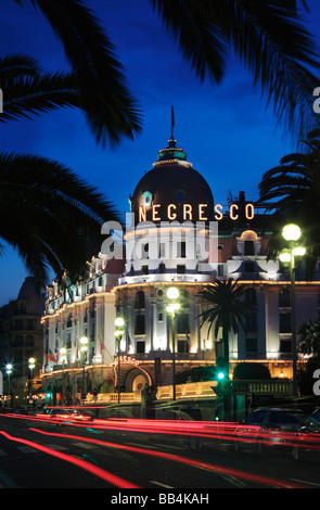 Hotel Negresco on Promenade des Anglais in Nice, France - Stock Photo