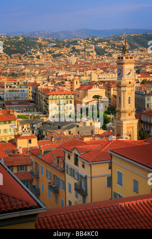 Buildings in the old town part of Nice France - Stock Photo