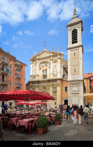 Place Rossetti in old town Nice on the French Riviera - Stock Photo