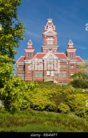 Whatcom Museum of History & Art on Prospect Street housed in a beautiful 1890s era courthouse, in Bellingham - Stock Photo