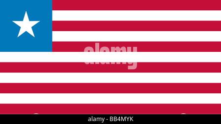 flag of Liberia - Stock Photo