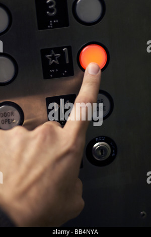 Pushing all elevator buttons