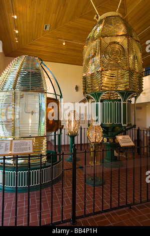 Lens Display in Ponce Inlet Lighthouse Museum; Daytona Beach, Florida, USA - Stock Photo