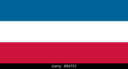 Historical flag of Serbia and Montenegro (formerly the flag of Yugoslavia) - Stock Photo