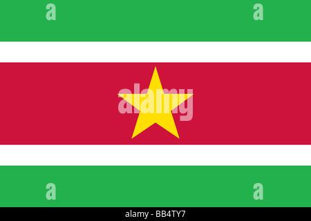 flag of Suriname - Stock Photo