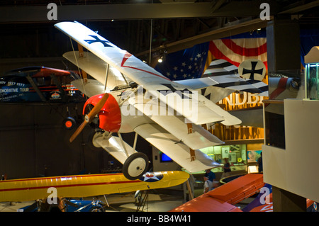WW I German Fighter Fokker DR-1 flown in WWI by the Red Baron - Stock Photo