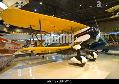 Curtiss/Rosinak P6-E Hawk Replica, first line Army Air Corps Pursuit Aircraft, 1930 at the AirVenture Museum - Stock Photo