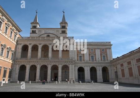 The Loggia delle Benedizioni in Piazza San Giovanni in Rome - Stock Photo