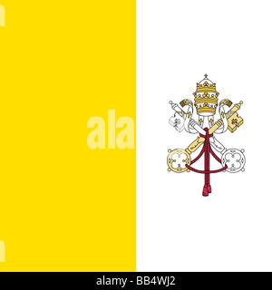 flag of Vatican City - Stock Photo