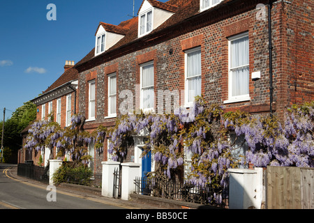 England Berkshire Cookham Sutton Road Wistaria Cottage Wisteria hung front of Eastgate John Lewis building - Stock Photo