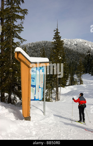 Whistler Olympic Park host of the nordic events in the 2010 Vancouver Winter Olympics Whistler British Columbia - Stock Photo