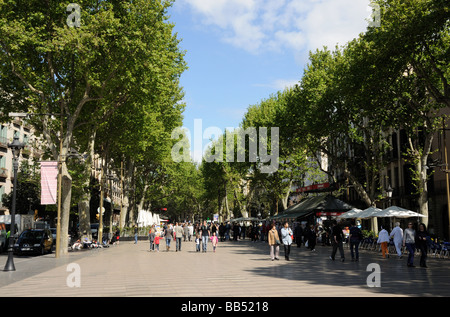 La Rambla in Barcelona Spain - Stock Photo