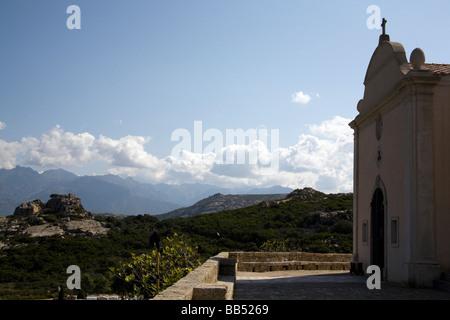 Chapelle de Notre Dame de la Serra, Calvi Corsica - Stock Photo
