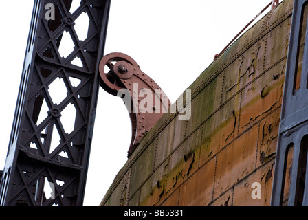 A close-up of a gas holder - Stock Photo