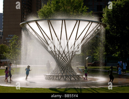 Mist Tree at Discovery Green Park in Houston, Texas, USA - Stock Photo