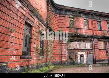 Derelict station, Mayfield Station, next to Piccadilly Station, Mayfield Street, Manchester, UK - Stock Photo