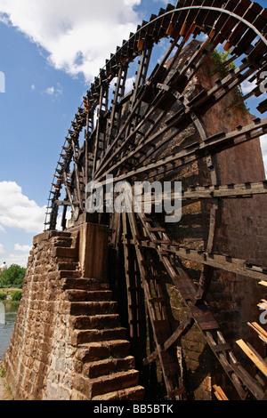 Noria Waterwheel, Hama Syria - Stock Photo