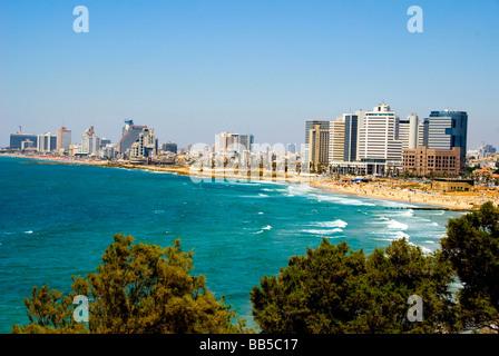 tel aviv skyline, Israel - Stock Photo