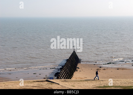 Groyne, Walton-on-the-Naze, Essex, UK. - Stock Photo