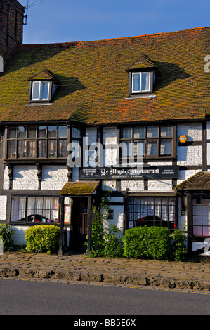 Ye Maydes Restaurant in Biddenden, Kent, UK. - Stock Photo