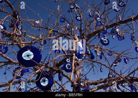 evil eye tree cappadocia turkey stock photo royalty free
