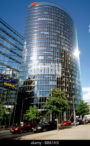 May 16, 2009 - BahnTower, corporate headquarters of Deutsche Bahn AG, at Potsdamer Platz in the German capital of - Stock Photo